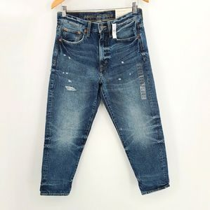 AEO Relaxed Taper Distressed Jeans